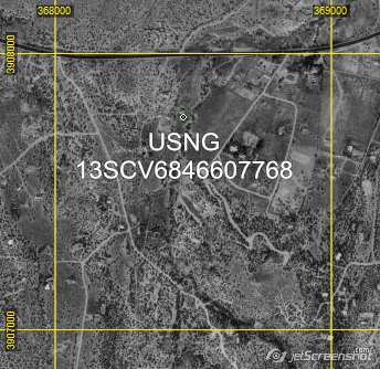 USNG coordinates and 1KM grid in ExpertGPS map software