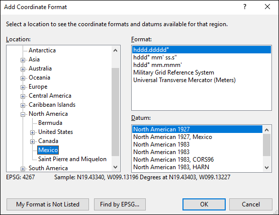 ExpertGPS is a batch coordinate converter for Mexican GPS, GIS, and CAD coordinate formats.