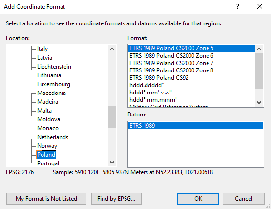 ExpertGPS is a batch coordinate converter for Polish GPS, GIS, and CAD coordinate formats.