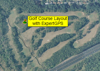 Combine golf course layouts, engineering drawings, and GPS data using ExpertGPS mapping software