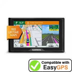 Download your Garmin Drive 5 LM EX waypoints and tracklogs for free with EasyGPS