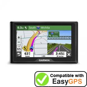 Download your Garmin Drive 52 waypoints and tracklogs for free with EasyGPS