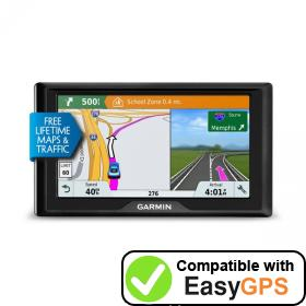 Download your Garmin Drive 61 LMT-S waypoints and tracklogs for free with EasyGPS