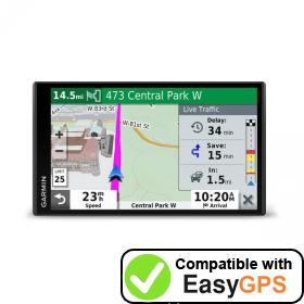 Download your Garmin DriveSmart 71 EX waypoints and tracklogs for free with EasyGPS