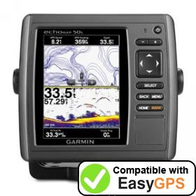 Download your Garmin echoMAP 50s waypoints and tracklogs for free with EasyGPS