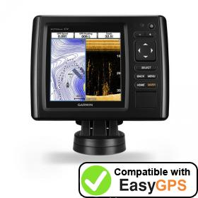 Download your Garmin echoMAP CHIRP 53cv waypoints and tracklogs for free with EasyGPS