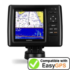 Download your Garmin echoMAP CHIRP 54dv waypoints and tracklogs for free with EasyGPS