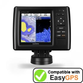 Download your Garmin echoMAP CHIRP 55cv waypoints and tracklogs for free with EasyGPS