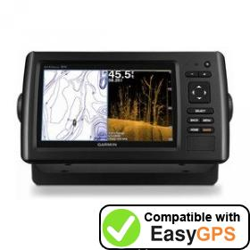 Download your Garmin echoMAP CHIRP 73sv waypoints and tracklogs for free with EasyGPS