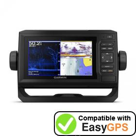 Download your Garmin ECHOMAP Plus 63cv waypoints and tracklogs for free with EasyGPS