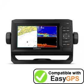 Download your Garmin ECHOMAP Plus 65cv waypoints and tracklogs for free with EasyGPS