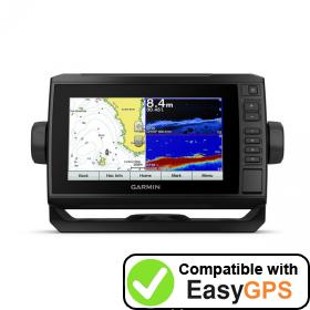 Download your Garmin ECHOMAP Plus 75cv waypoints and tracklogs for free with EasyGPS