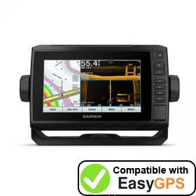 Download your Garmin ECHOMAP UHD 73sv waypoints and tracklogs for free with EasyGPS