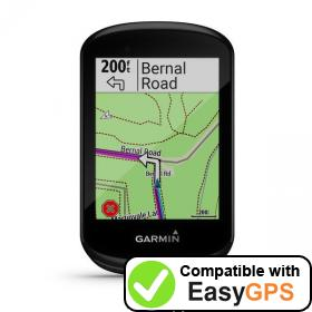 Download your Garmin Edge 830 waypoints and tracklogs for free with EasyGPS