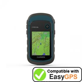 Download your Garmin eTrex 22x waypoints and tracklogs for free with EasyGPS