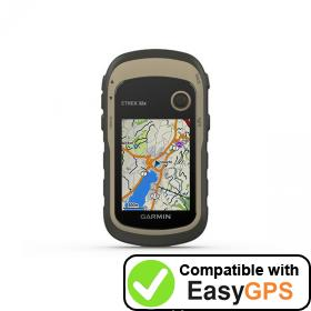 Download your Garmin eTrex 32x waypoints and tracklogs for free with EasyGPS