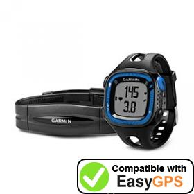 Download your Garmin Forerunner 15 waypoints and tracklogs for free with EasyGPS