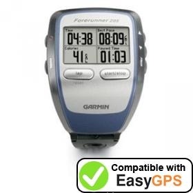Download your Garmin Forerunner 205 waypoints and tracklogs for free with EasyGPS