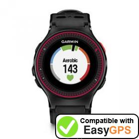Download your Garmin Forerunner 225 waypoints and tracklogs for free with EasyGPS