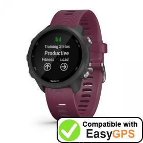 Download your Garmin Forerunner 245 waypoints and tracklogs for free with EasyGPS