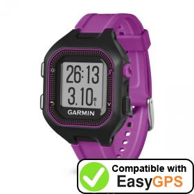Download your Garmin Forerunner 25 waypoints and tracklogs for free with EasyGPS