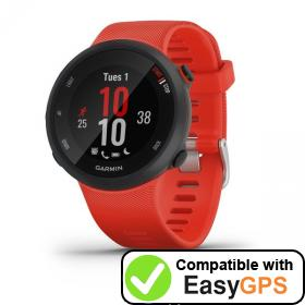 Download your Garmin Forerunner 45 waypoints and tracklogs for free with EasyGPS