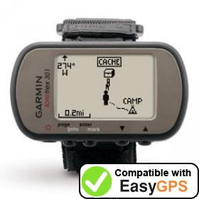 Download your Garmin Foretrex 301 waypoints and tracklogs for free with EasyGPS