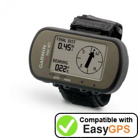 Download your Garmin Foretrex 401 waypoints and tracklogs for free with EasyGPS