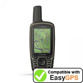 Download your Garmin GPSMAP 64sx waypoints and tracklogs for free with EasyGPS