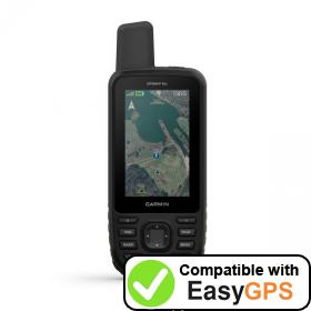 Download your Garmin GPSMAP 66s waypoints and tracklogs for free with EasyGPS