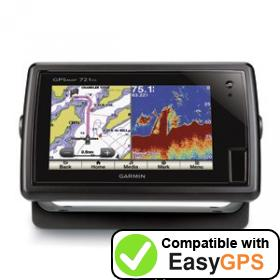 Download your Garmin GPSMAP 721xs waypoints and tracklogs for free with EasyGPS