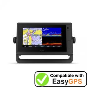 Download your Garmin GPSMAP 722xs Plus waypoints and tracklogs for free with EasyGPS