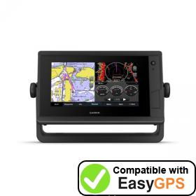 Download your Garmin GPSMAP 742 Plus waypoints and tracklogs for free with EasyGPS