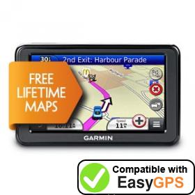 Download your Garmin nüvi 2445LM waypoints and tracklogs for free with EasyGPS