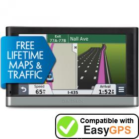 Download your Garmin nüvi 2547LMT waypoints and tracklogs for free with EasyGPS