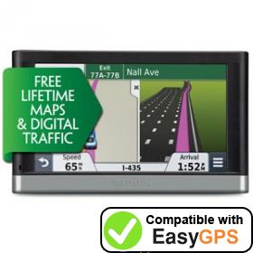 Download your Garmin nüvi 2568LMT-Digital waypoints and tracklogs for free with EasyGPS