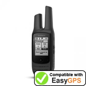 Download your Garmin Rino 700 waypoints and tracklogs for free with EasyGPS