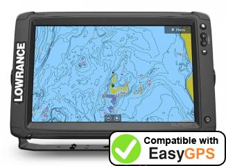 Download your Lowrance Elite-12 Ti2 waypoints and tracklogs for free with EasyGPS