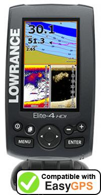 Download your Lowrance Elite-4 HDI waypoints and tracklogs for free with EasyGPS