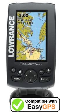 Download your Lowrance Elite-4m HD Gold waypoints and tracklogs for free with EasyGPS