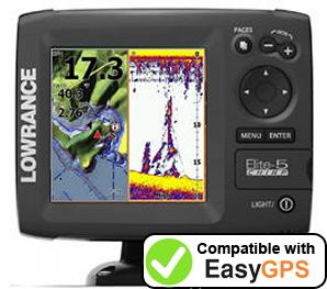Download your Lowrance Elite-5 CHIRP waypoints and tracklogs for free with EasyGPS