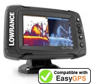 Download your Lowrance Elite-5 Ti waypoints and tracklogs for free with EasyGPS