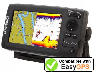 Download your Lowrance Elite-7 Broadband waypoints and tracklogs for free with EasyGPS