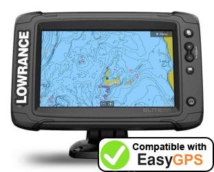Download your Lowrance Elite-7 Ti2 waypoints and tracklogs for free with EasyGPS