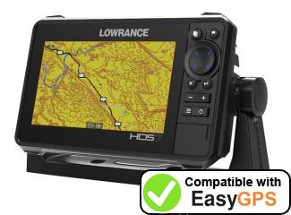 Download your Lowrance HDS-7 LIVE BAJA waypoints and tracklogs for free with EasyGPS