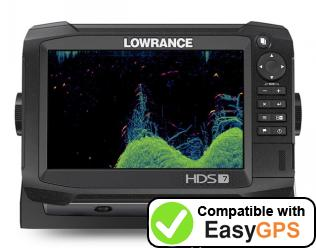 Download your Lowrance HDS Carbon 7 waypoints and tracklogs for free with EasyGPS