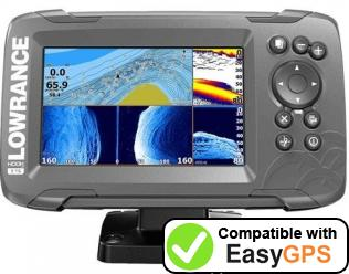 Download your Lowrance HOOK-5 waypoints and tracklogs for free with EasyGPS