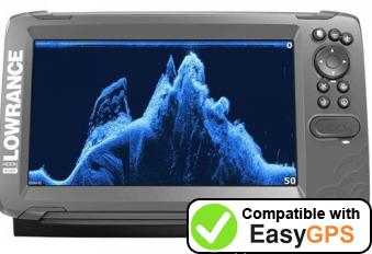 Download your Lowrance HOOK-9 waypoints and tracklogs for free with EasyGPS