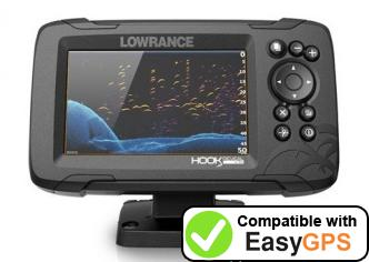 Download your Lowrance HOOK Reveal 5 waypoints and tracklogs for free with EasyGPS