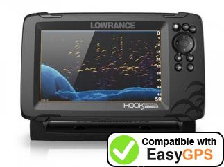 Download your Lowrance HOOK Reveal 7 waypoints and tracklogs for free with EasyGPS